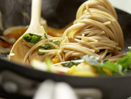 Spaghetti mit Paprika: Zubereitungsschritt 8