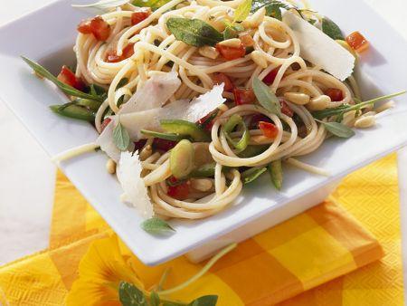 Spaghetti-Rucolasalat