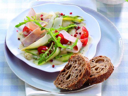 Spargel-Carpaccio mit Gourmet-Putenbrust