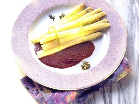 Spargel mit Rotweinsauce