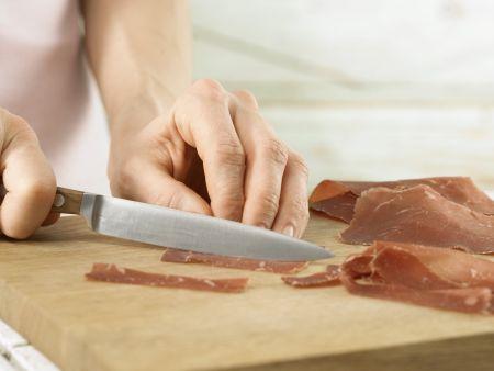 Spargel-Pasta mit Bündner Fleisch: Zubereitungsschritt 5