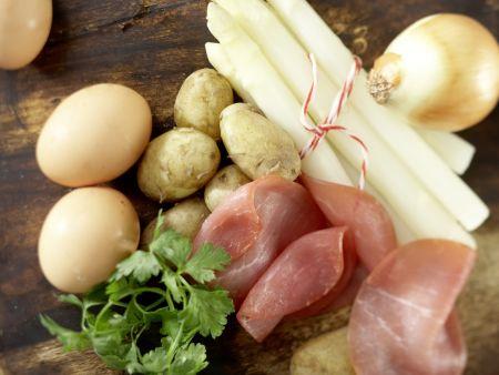 Spargel-Schinken-Omelett: Zubereitungsschritt 1