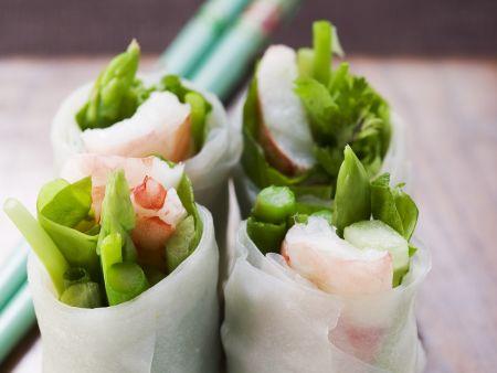 Spargel-Shrimps-Glücksrollen aus Vietnam