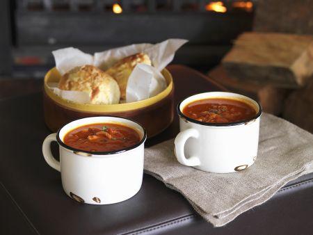 Rezept: Speck-Tomaten-Suppe