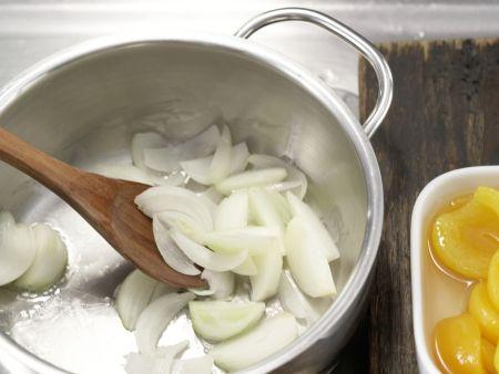 Spinat-Aprikosen-Gemüse: Zubereitungsschritt 2