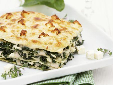 Spinat-Feta-Lasagne