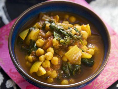 Spinat-Kichererbsen-Topf nach indischer Art