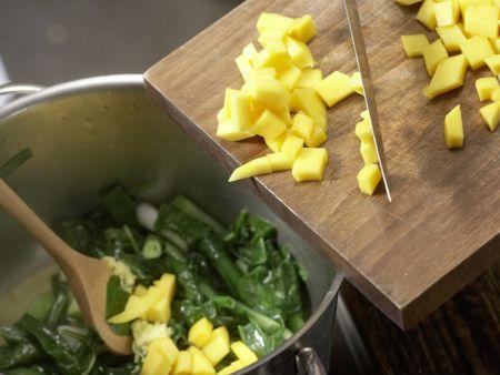 Spinat-Mango-Gemüse: Zubereitungsschritt 7
