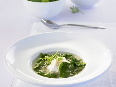 Spinat-Parmesan-Suppe