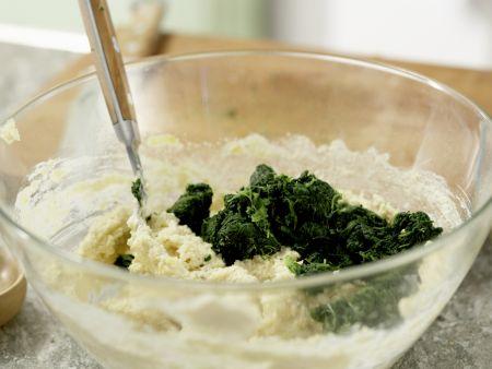Spinat-Quark-Plätzchen: Zubereitungsschritt 6