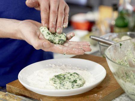 Spinat-Quark-Plätzchen: Zubereitungsschritt 7
