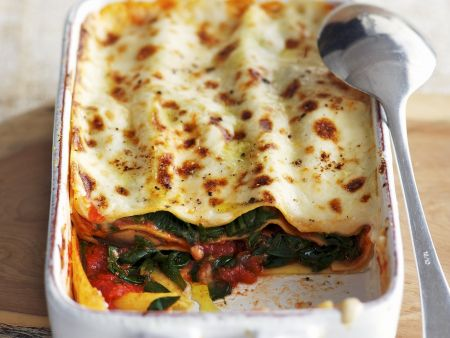 Rezept: Spinat-Tomaten-Lasagne
