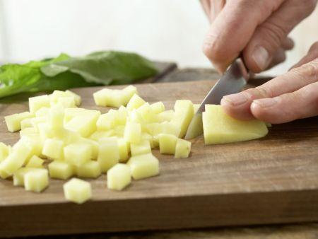 Spinatbrei mit Pute: Zubereitungsschritt 1
