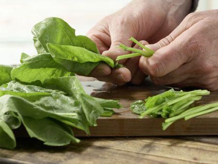 Spinatbrei mit Pute: Zubereitungsschritt 4