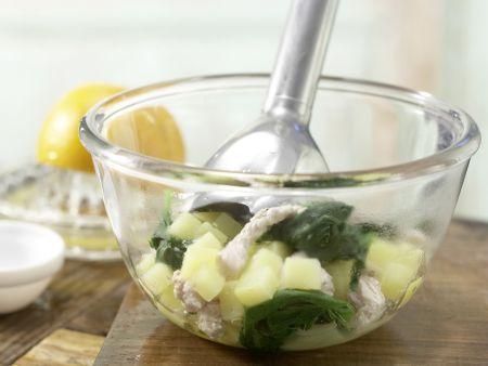 Spinatbrei mit Pute: Zubereitungsschritt 5