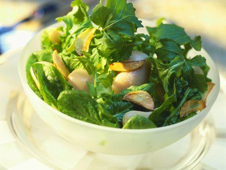 Spinatsalat mit Bohnen