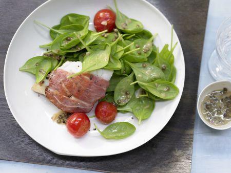 Rezept: Spinatsalat mit Zander