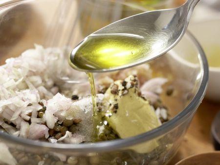 Spinatsalat mit Zander: Zubereitungsschritt 3