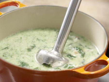 Spinatsuppe mit Muffins: Zubereitungsschritt 8
