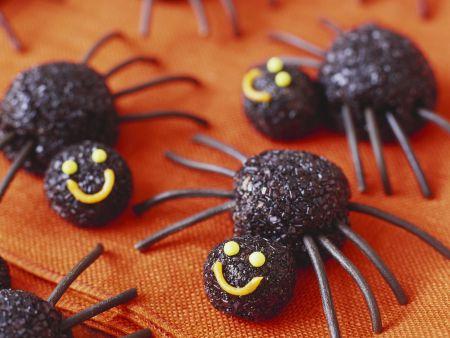 Spinnen-Pralinen zu Halloween