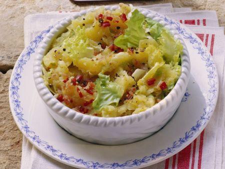 Stampfkartoffeln mit Endiviensalat