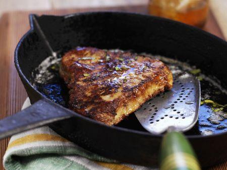 Steak vom Thunfisch mit Honig glasiert