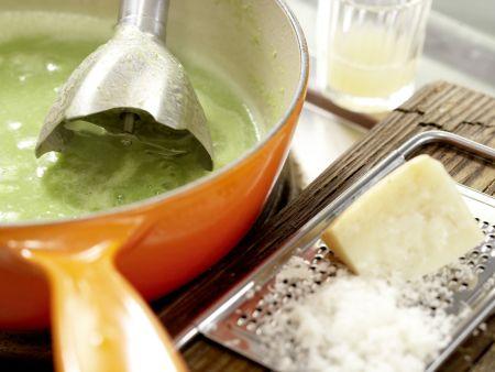 Süppchen von grünem Spargel: Zubereitungsschritt 5