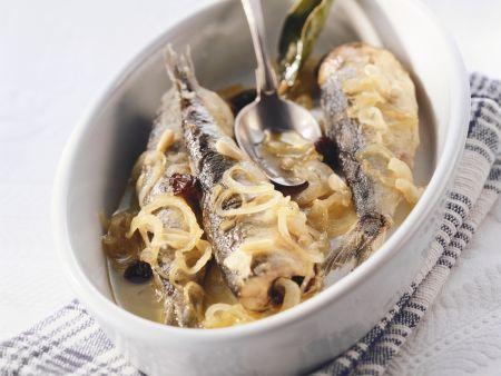 Süß-sauer marinierte Sardinen