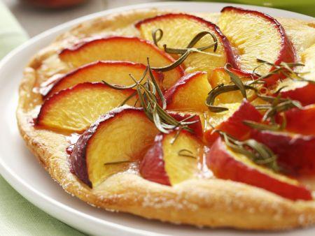 Rezept: Süße Pfirsich-Pizza