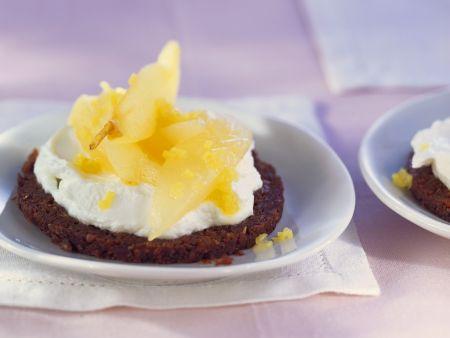 Rezept: Süße Quark-Birnenhäppchen