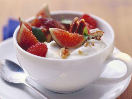 Süßer Fruchtjoghurt