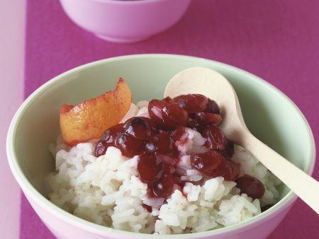 Süßer Reisbrei mit Cranberries