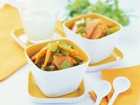 Süßkartoffel-Gemüse-Topf