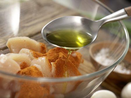 Süßkartoffel-Kokos-Suppe: Zubereitungsschritt 1