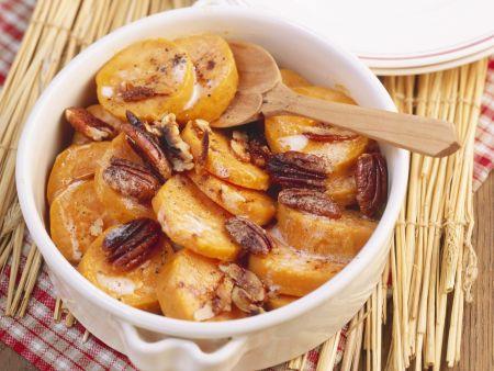 Süßkartoffelauflauf mit Pecannüssen