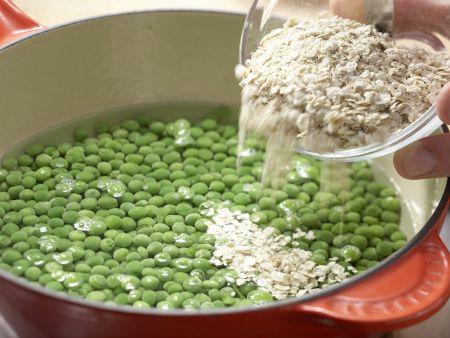 Süßkartoffelbrei mit Erbsen: Zubereitungsschritt 2