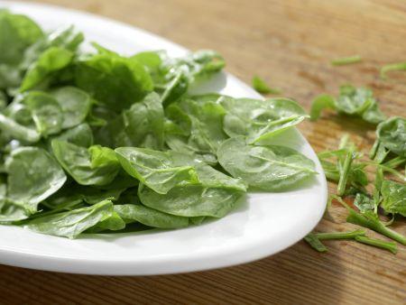 Süßkartoffeln mit Spinatsalat: Zubereitungsschritt 2