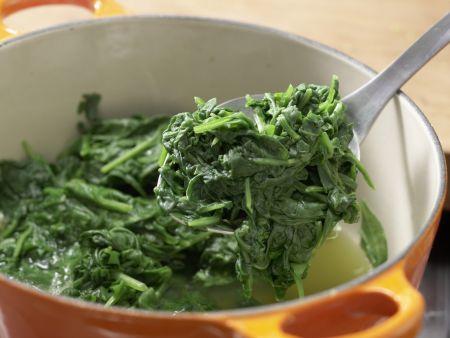 Süßkartoffeln mit Spinatsalat: Zubereitungsschritt 3