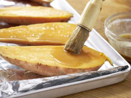 Süßkartoffeln mit Spinatsalat: Zubereitungsschritt 7