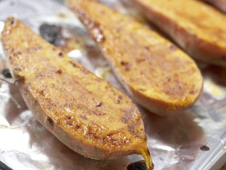 Süßkartoffeln mit Spinatsalat: Zubereitungsschritt 8