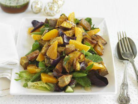 Süßkartoffelsalat mit Orangen