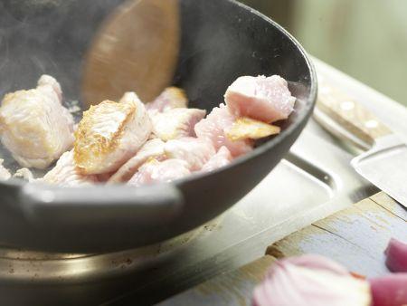 Süßsaures Putenfleisch: Zubereitungsschritt 5