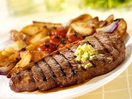 T-Bone-Steak mit Kartoffeln