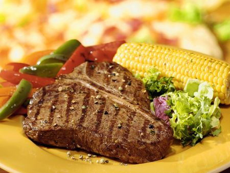 T-Bone-Steak vom Grill