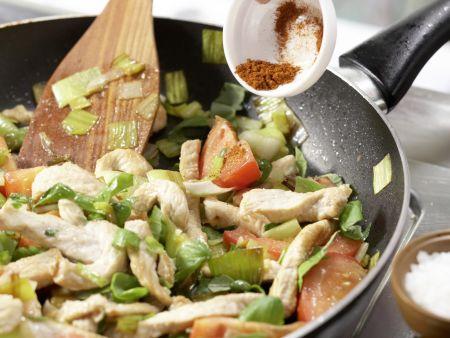 Tacos mit Putenfleisch: Zubereitungsschritt 9