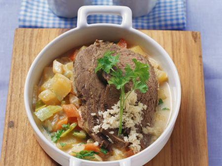 Tafelspitz mit Kartoffeln und Kren