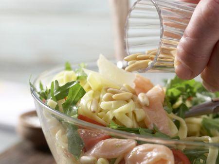 Tagliatelle und marinierter Lachs: Zubereitungsschritt 10