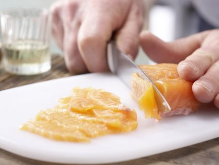 Tagliatelle und marinierter Lachs: Zubereitungsschritt 6