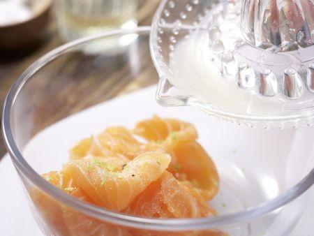 Tagliatelle und marinierter Lachs: Zubereitungsschritt 7