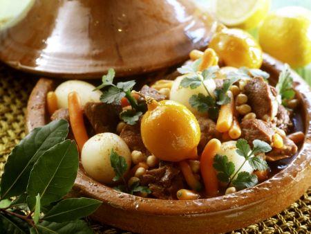 Tajine mit Lamm, Rübchen und Zitrone